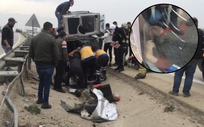 Bursa'da trafikte tekerleri fırladı taklalar attı! Dakikalarca bekledi