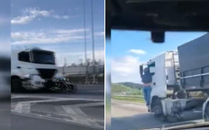 Eşini öldüren kamyonun kapısında 32 kilometre boyunca asılı kaldı
