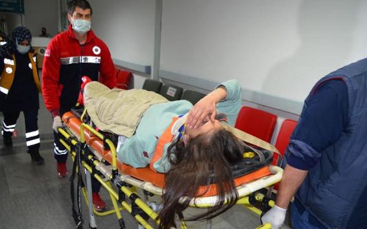 Aksaray'da intihar girişimi: Genç kadın korkuluklardan atladı