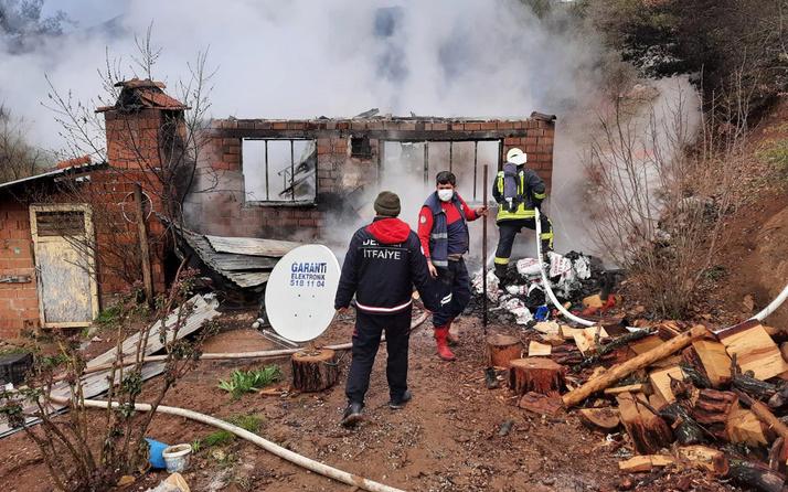 Denizli'de kaçak kullandığı elektriğin kesilmesine sinirlenip evini yaktı