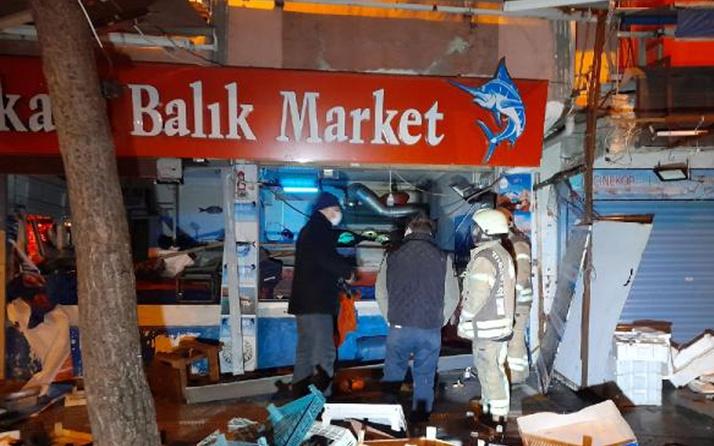 Bağcılar'da balıkçı dükkanında patlama! Soruşturma başlatıldı