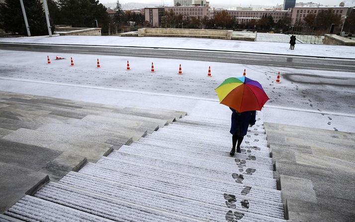 Ankara için meteorolojiden kar uyarısı akşam başlıyor yarın çok kuvvetli olacak