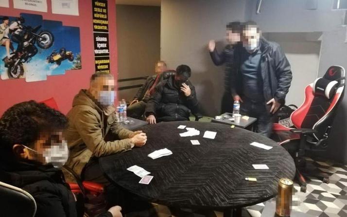 Sancaktepe'de kumar oynayan şahıslara baskın