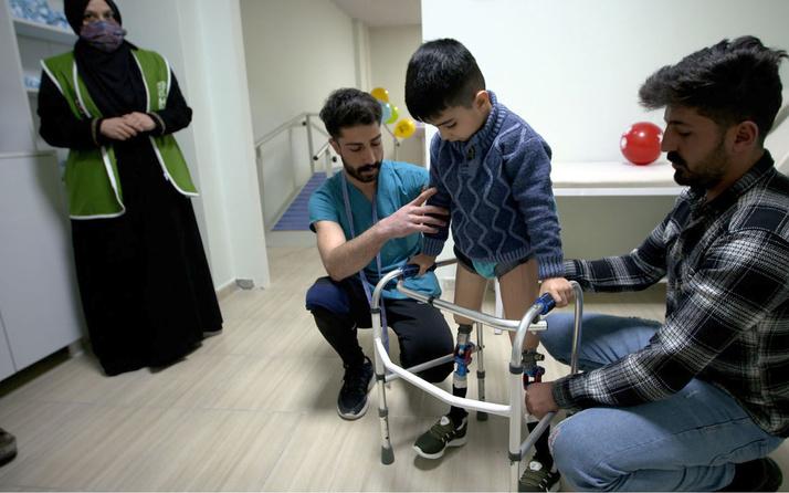 6 yaşındaki İbrahim Tüser'in yürüme hayali gerçeğe dönüştü