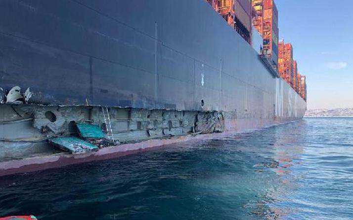 400 metrelik devasa gemi Ambarlı Limanı'nda iskeleye çarptı