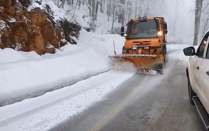 Nisan ayında Kartepe'de kar sürprizi