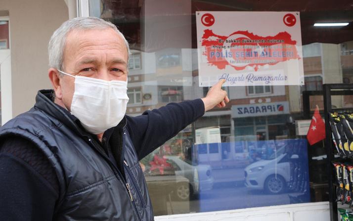 Tokat'ta şehit yakınları 50 ailenin bakkal borcunu kapattı