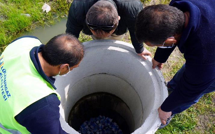 Lüleburgaz'da 'kanalizasyon tıkandı ihbarına' giden ekipler şaşkına döndü