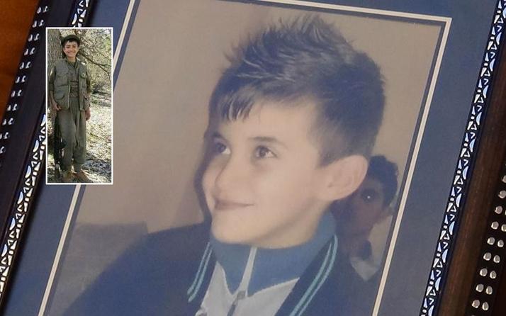 Terör örgütü PKK 9 yaşında dağa kaçırdığı Hamza'nın yeni fotoğrafını ailesine gönderdi