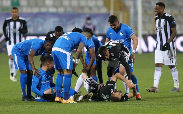BB Erzurumspor maçında sakatlanan Beşiktaşlı Cenk Tosun sezonu kapattı