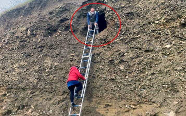 Samsun'da heyelan sonrası ortaya çıktı! İçini görenler şaştı kaldı