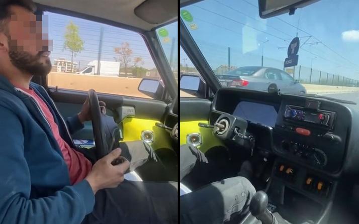 Antalya'da sorumsuz sürücü direksiyonu yerinden çıkartıp yola devam etti