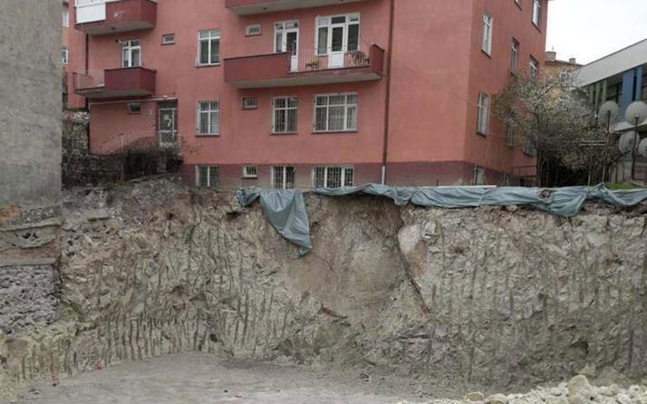 Ankara'da faciaya ramak kaldı! Yanına temel kazılan 3 katlı binanın temeli yerinden oynadı