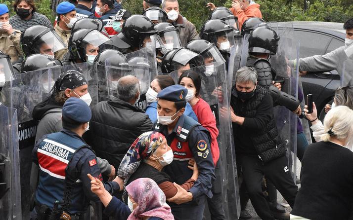 Muğla'da kaçak yapıların yıkımı sırasında gerginlik çıktı