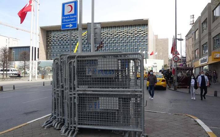 Barikatlar getirildi! 1 Mayıs için Taksim'de önlem alındı