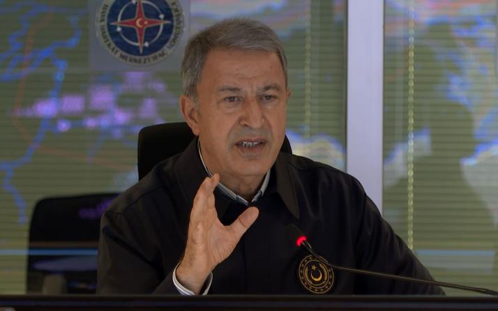 Milli Savunma Bakanı Hulusi Akar'dan Yunan Bakan'a sert tepki
