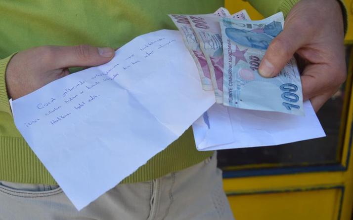 Tokat'ta yıllar önceki borcunu zarf bırakarak ödedi 'Ruh olarak çok etkiledi'