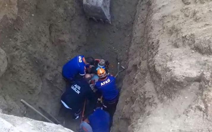 Elazığ'da kanalizasyon çalışmasında göçük