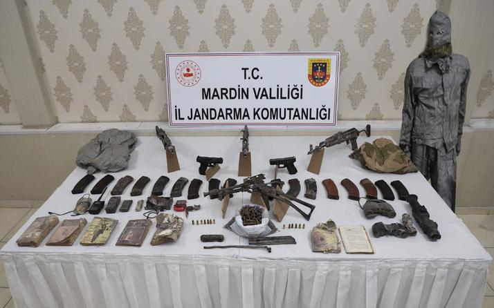 Mardin'deki operasyonda 4 uzun namlulu silah ve 2 tabanca ele geçirildi