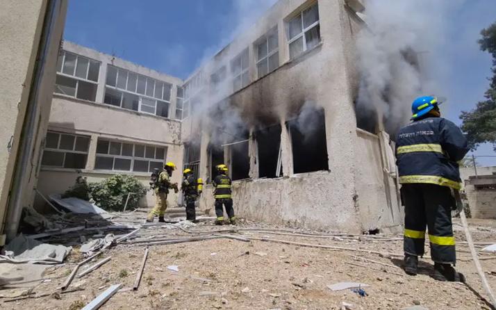 Kassam Tugayları İsrail'in Dimona ve Aşdod kentleri ile gaz platformunu roketlerle hedef aldı