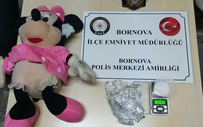 İzmir'de peluş oyuncağın içinden uyuşturucu çıktı