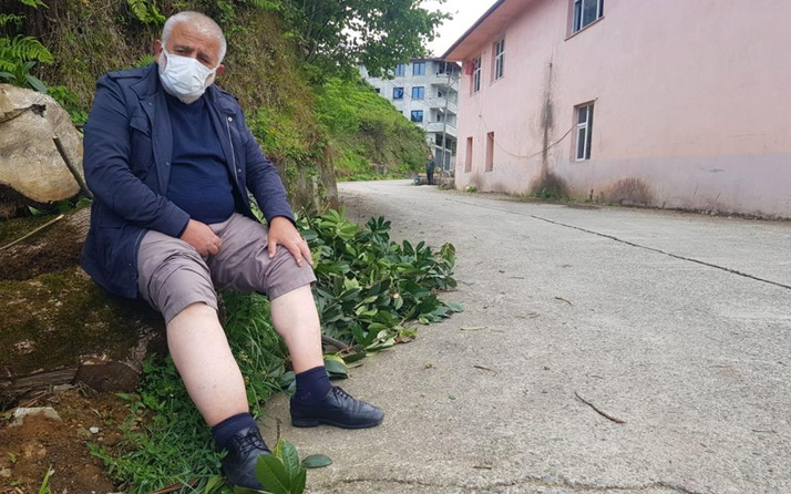Rize'de köy yolunda eve 50 metre mesafede yürüyüş pahalıya patladı