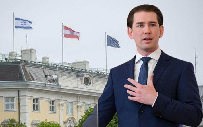 Avusturya Başbakanı Sebastian Kurz, başbakanlık binasına İsrail bayrağı çektirdi