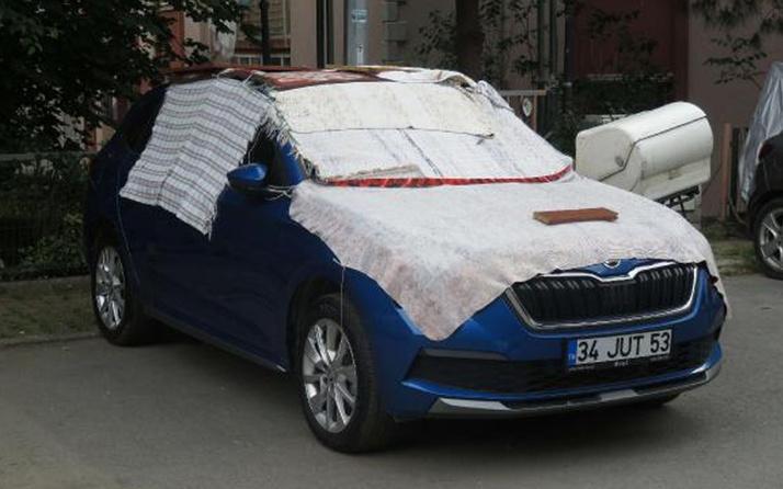 İstanbul'a dolu uyarısı sonrası Üsküdar: Kilimli ve battaniyeli önlem başladı