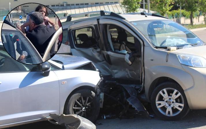 Elazığ'da iki araç birbirine girdi 8 yaralı var! Milletvekili yardıma koştu