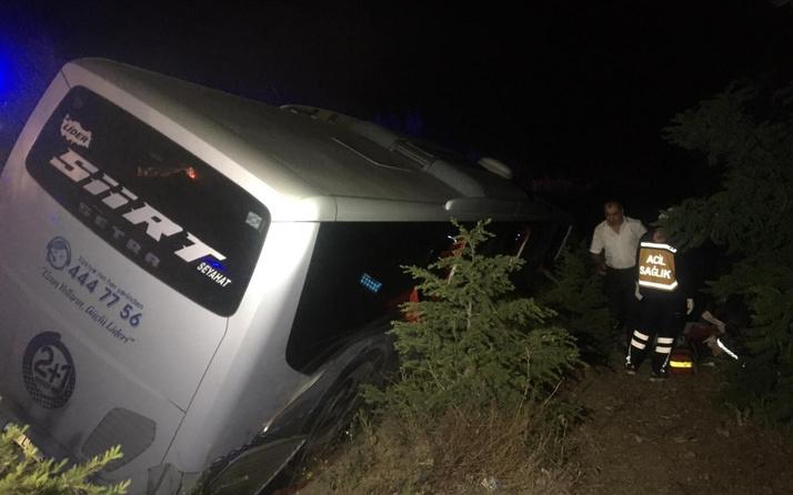 Niğde'de yolcu otobüsü devrildi: 1 ölü 10 yaralı