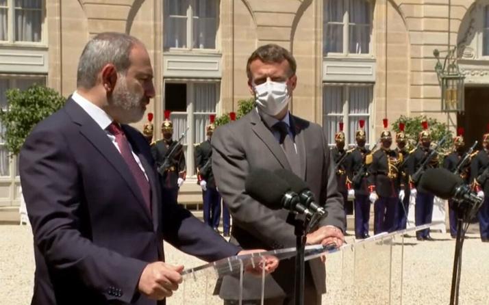 Ermenistan Başbakanı Paşinyan ile görüşen Macron'dan skandal açıklama
