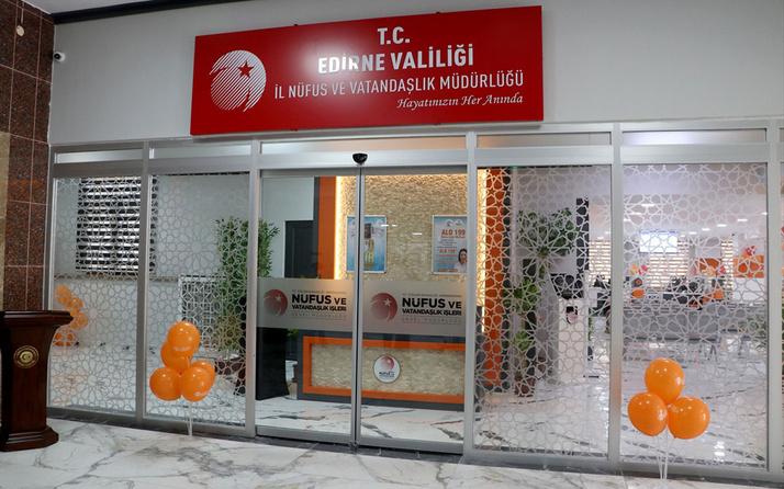Edirne'deki nüfus müdürlükleri 'Konsept Nüfus Müdürlüğü' projesi kapsamında yenilendi