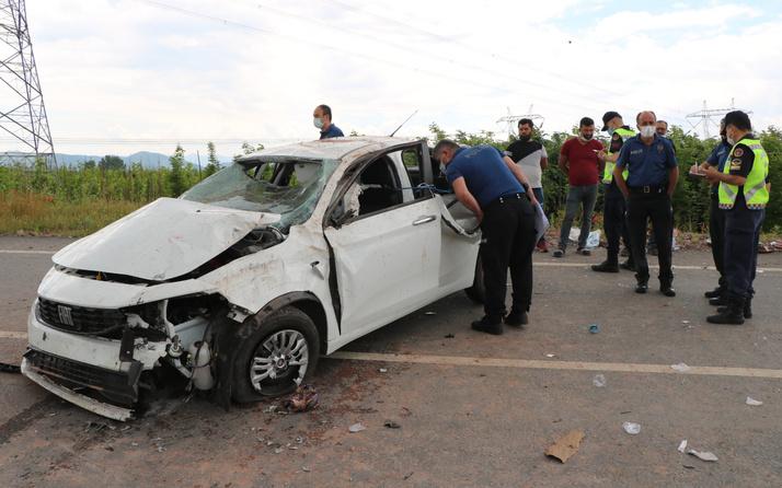 Sakarya'da feci kaza! 30 metreden yuvarlandı: Arka camdan fırladı
