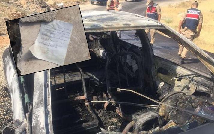 Elazığ'da sürücüsüyle yanan aracın yanında bulundu! Büyük itiraf: Bombaları ben patlattım