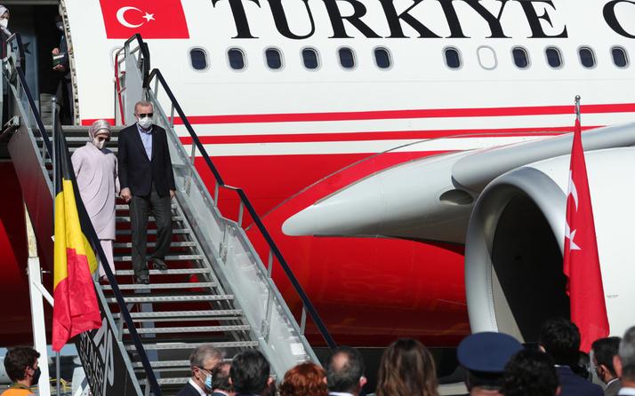 NATO Zirvesi için Belçika'ya giden Cumhurbaşkanı Erdoğan sevgi gösterileriyle karşılandı