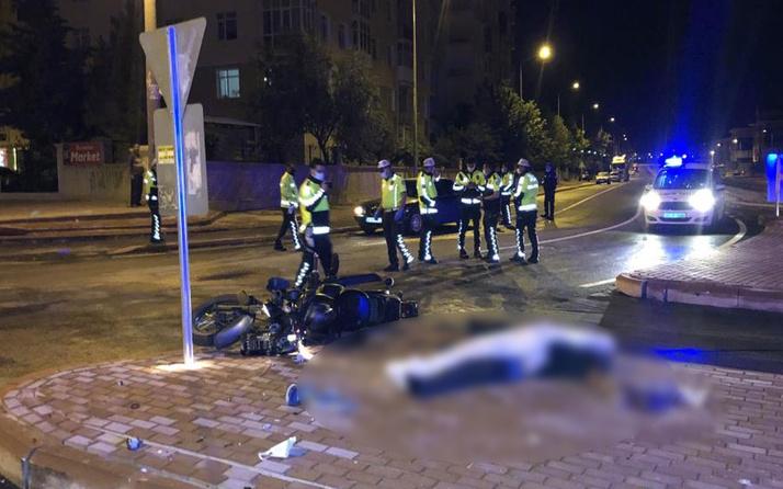 Konya'da feci ölüm! Kaldırıma çarpan motosikletin sürücüsü hayatını kaybetti