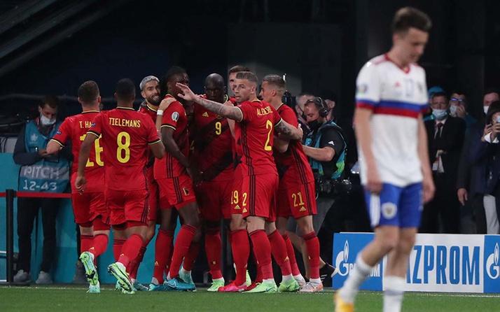 EURO 2020'de Belçika, Rusya'yı 3 golle geçti! 'Kahin kedi' doğru bildi