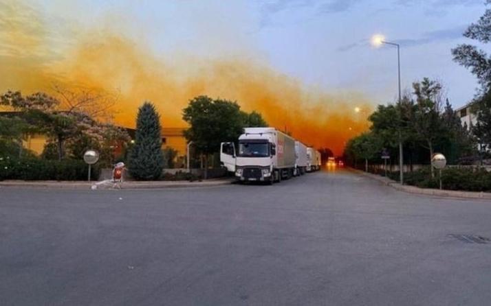 Antalya'da fabrikanın asit tankı patladı, gökyüzünü asit bulutu kapladı