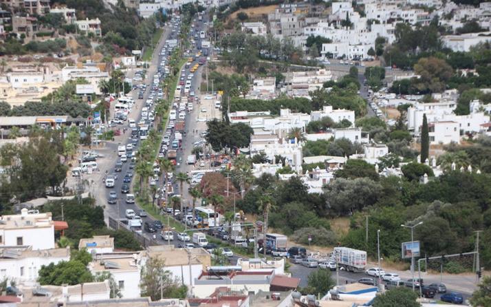 Bodrum trafiği İstanbul trafiğini geçti