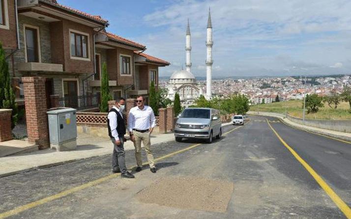 Tekirdağ'da belediye başkanından asfaltlanan yolun yeniden kazılmasına tepki