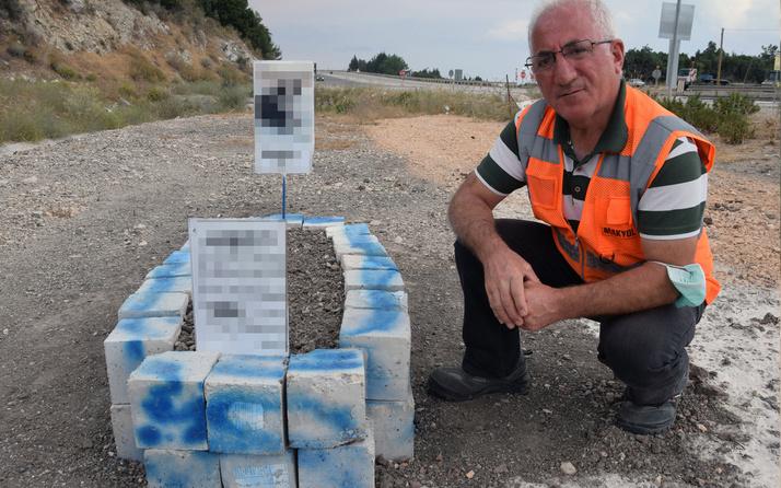 Antalya'da mezar taşına yazdıkları şaşırttı: İnanmadım, koşarak, geldim
