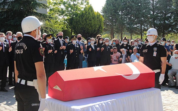 Bodrum'da şehit olan polis memuru Ercan Yangöz için cenaze töreni düzenlendi