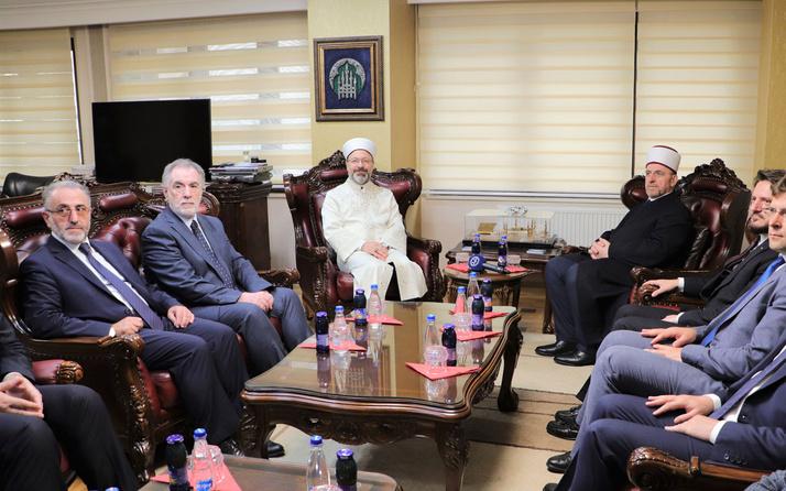 Diyanet İşleri Başkanı Ali Erbaş, Kosova İslam Birliği'ni ziyaret etti