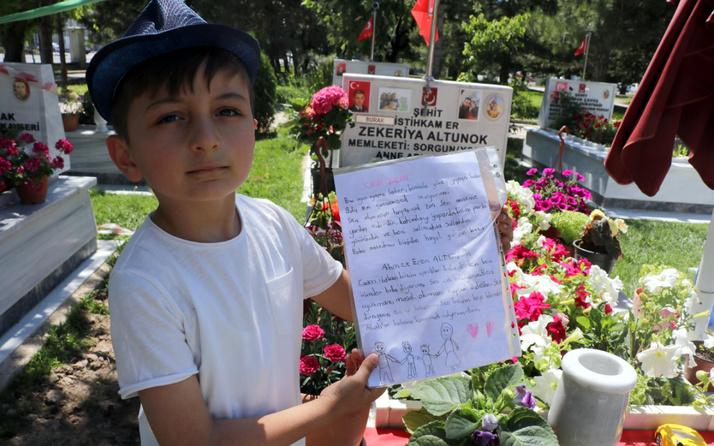 Kayseri'de şehit oğlunun babasına mektubu yürek burktu: Ben içimden...