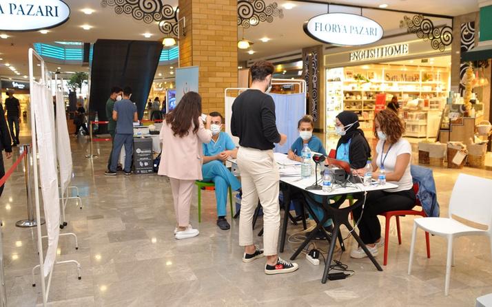 İstanbulda bir ilk! AVM'de de randevusuz aşı yapılacak