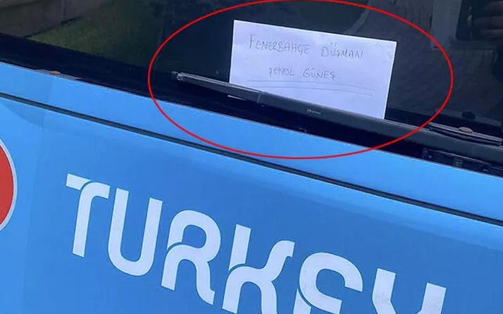 A Milli Takım otobüsüne bırakılan not olay! 'Fenerbahçe düşmanı Şenol Güneş'