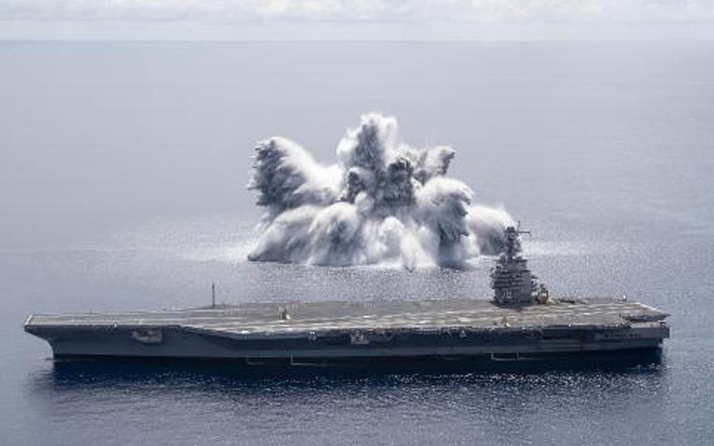 ABD donanmasının, savaş gemisi patlayıcı testi 3.9 şiddetinde depreme sebep oldu