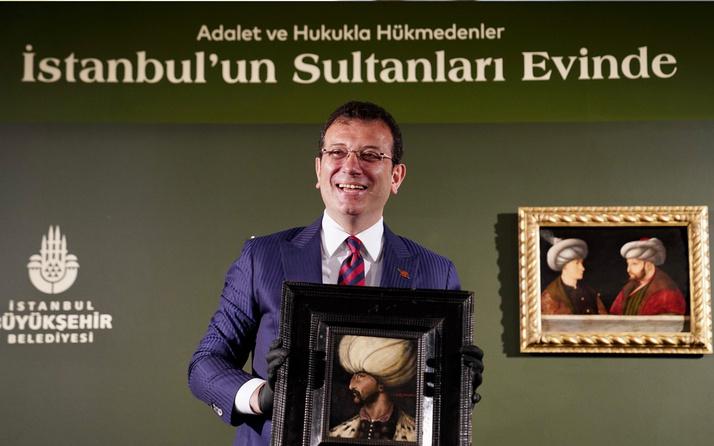 Ekrem İmamoğlu İBB'ye bağışlanan Kanuni Sultan Süleyman portresinin gösterimini yaptı