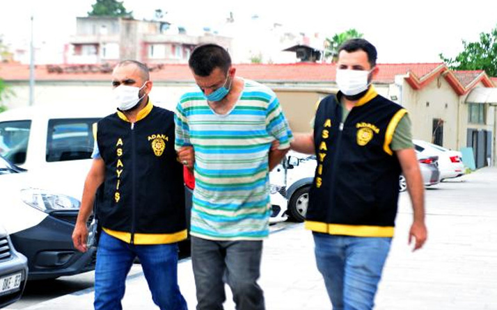 Olay yeri Adana! Çaldığı inşaat malzemesini çuvallarla taşıdı