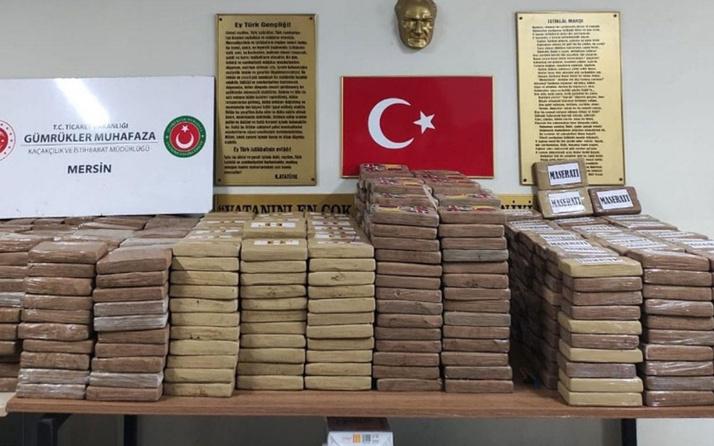 Mersin'de son 1 haftada ele geçirilen kokain miktarı 1,7 tonu geçti